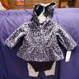 Carter's 3 piece long sleeve outfit sz 3mth nwts